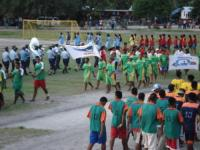 Athletes Leave the arena at Bairiki