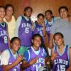 Puaikura Under 14 Girls with Coaches Margaret & Tapu