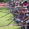 Archers line up