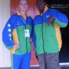 Ryan Burns (Coach) and Waige Turuke at the SPG Village in Samoa
