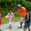 Coach Ronnie Edgar During the Sapuk Community Clinic