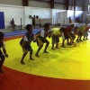 Young wresters Practicing Form