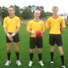 Thomas (middle) was one of leading umpires in 2008