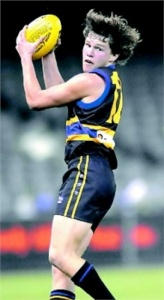 Dylan McNeil in action (courtesy Border Mail)