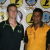 FIBA Oceania ZDO Ryan Burns with PNG NBDO Ronnie Mea