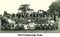 1958 Premiership Team