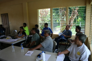 Workshop participants during Micronesia Planning presentations.