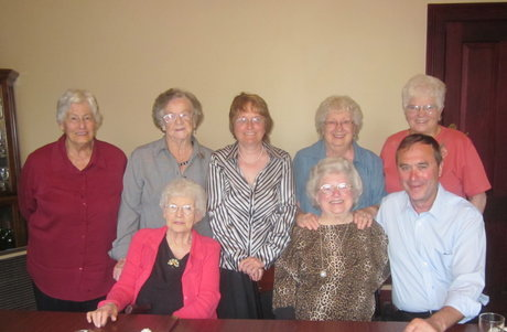 PMFC Ladies Committee with Club President Peter Bromley