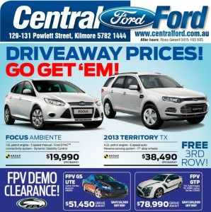 Central Ford Major Sponsor