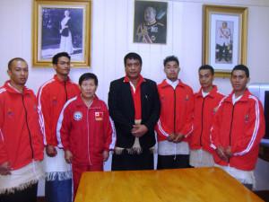 TNTA Patron with Team Tonga 2011