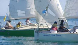 DYC member Roy Jewell sailed with Paul Borg to win the Australian Blind Match Racing Regatta