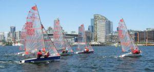 The fleet gets away for race five