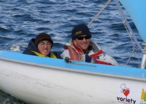 Winer of the 303 division, William Seah, sailed with Charles Weatherly on Saturday morning