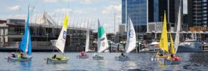 The fleet heads for Waterfront City in the northerly