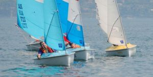 Russell Phillips fights off the Liberty fleet to win the first race in Italy
