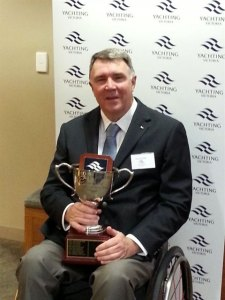 2013 Victorian Sailor of the Year with a Disability - Russell Phillips - at the Victorian Yachting Awards