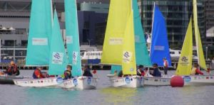 St Bedes and Woodleigh competed in the finals of the Victoria Harbour School Sailing Series