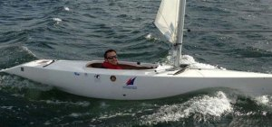 Neil Paterson is sailing in Kinsale, Ireland in the 2.4mR
