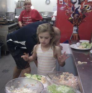Foreshore Dinner - A little helper