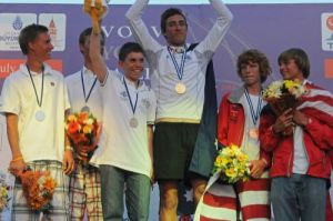 Australia's SL16 crew receiving their Gold medal in Turkey