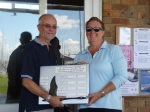 Club Award for Docklands present to Shauna Phillips, Vice Commodore