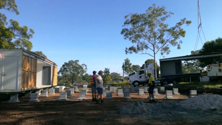 Work on upgrading the amenities at South Kempsey Oval is moving along nicely. Photo: Paix Plumbing & Excavation
