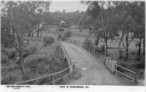View at Hurstbridge Bridge circa 1910 - 1918