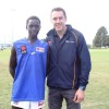 Coffs Harbour's Kaman Malou caught up with Carlton great Anthony Koutoufides while representing NSW/ACT at the AFL KickStart championships held in Coffs Harbour.