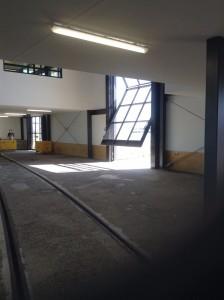 Our new glass door opening