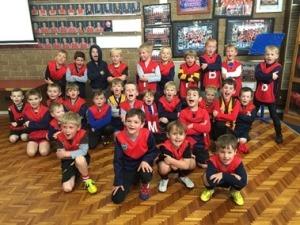 Preps half time game at Bentleigh Football Netball Club
