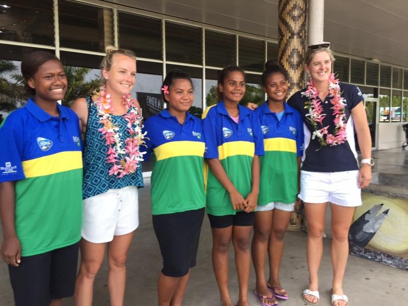 Greeting at Honiara Airport