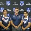 Robbie Kearns with U20's and U18's Captains
