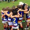 Panthers U8's huddle photo