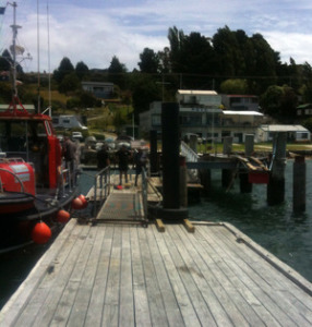 Pontoons in operation