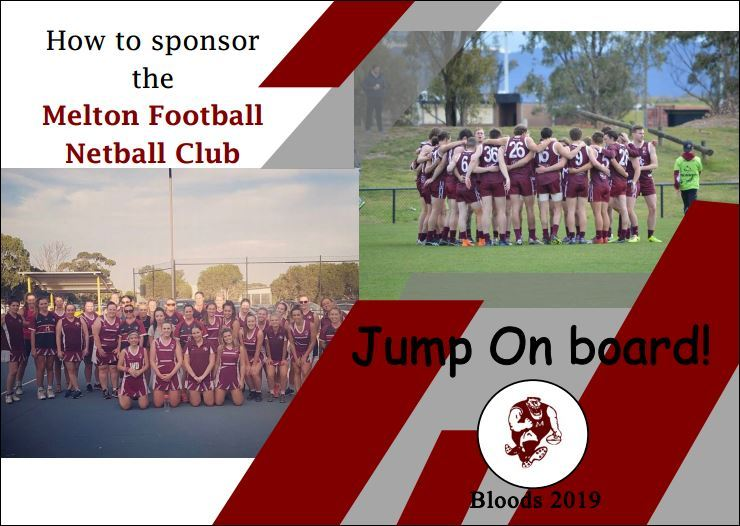 Become a Sponsor Jump on Board - Melton Football Club Incorporated